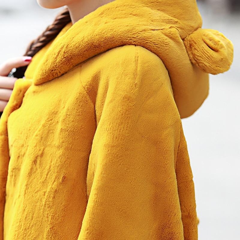 Nerazzurri χειμωνιάτικο παλτό γούνινο - Γυναικείος ρουχισμός - Φωτογραφία 6