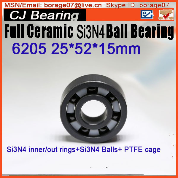 6205 Full ceramic bearings  1 piece full si3n4 material ceramic 3 piece nesting
