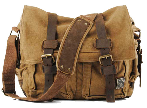 Compare Prices on Leather Canvas Messenger Bag- Online Shopping ...