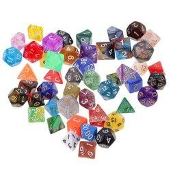 49 pcs Acrilico Multi-sided di Dadi Colorati Poliedrici Dadi per il Dungeons Dragons MTG Digitale RPG Gioco Da Tavolo Bar Club giocattoli Regalo