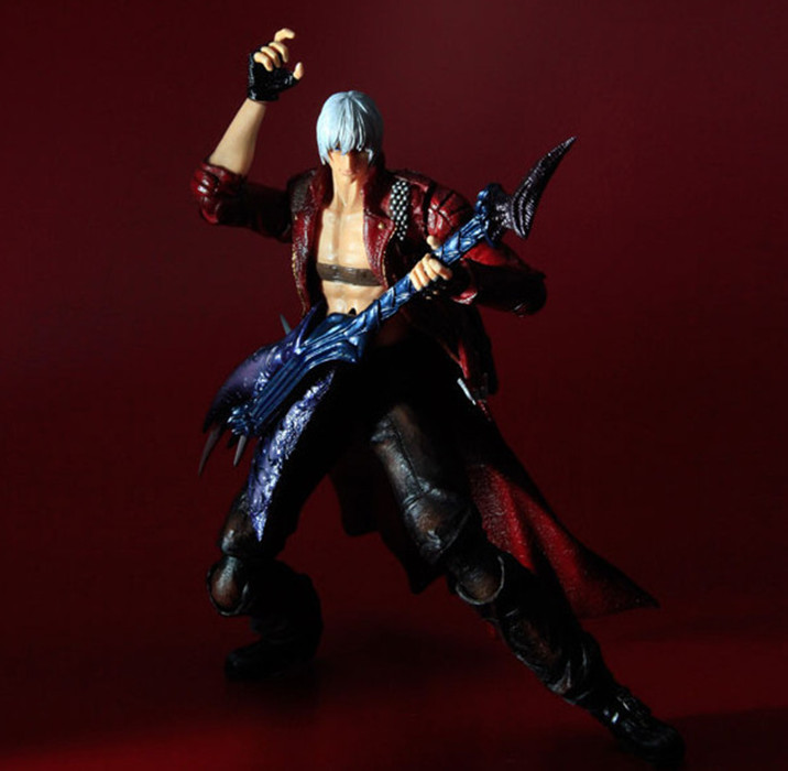 Devil May Cry 3 Action Figure Toys Playarts Kai Anime Toy Movie Dante Play Arts Kai 25CM Collection Model Free shipping KB0744