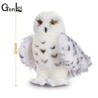 GonLeI Crianças Filhos Adultos Brinquedos Encantadores Qualidade Premium Snowy White Adorável Stuffed Animal Plush Brinquedo Coruja Hedwig 12 polegada de altura
