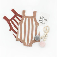 ZTKIDS New Baby Knit Romper Girls Spring Summer One Pieces Kids Suspender Sleeveless Romper Baby Boys