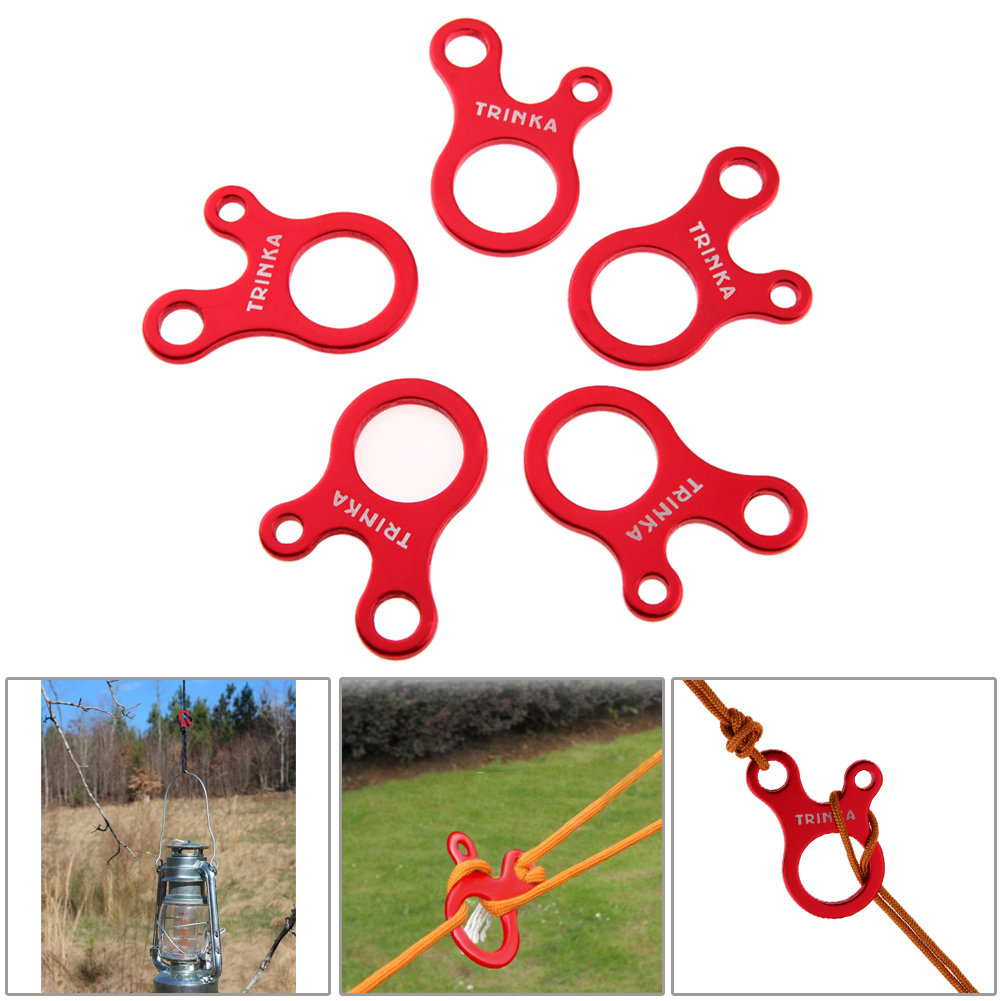 5 pcs Tent Wind Rope Buckle Antislip Camping Tightening Hook for Outdoor Traveling Hiking Picnic Camping Outdoor Survival Tools