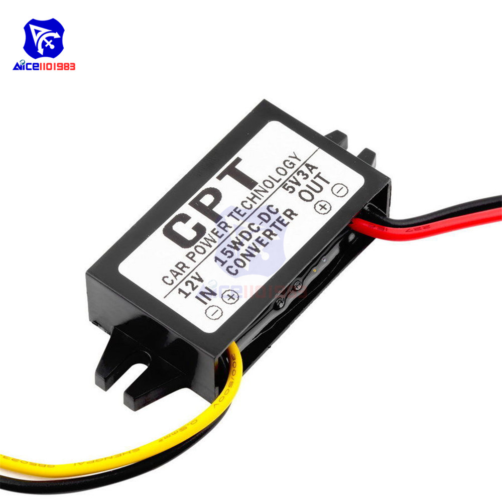 Image 5 - DC/DC Buck Converter Regulator 12V to 5V 3A 15W Car Monitor Power Supply-in Integrated Circuits from Electronic Components & Supplies