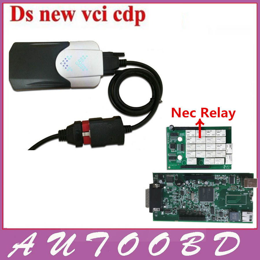 ФОТО 2014 R2 Free Activate Any Time TCS cdp pro Nec Relay Blue Board PCB V8.0+ LED for car & trucks generic 3in1 auto diagnostic tool