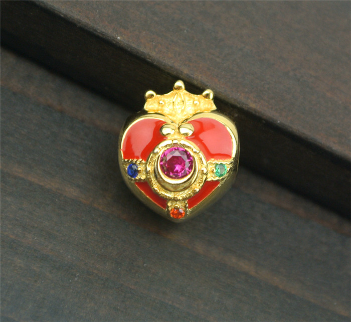 Sailor Moon 20th Anniversary Pendant Charm Bead 925 Silver + Gold Heart Gift Toy Halloween Cosplay Pendant Christmas Gift