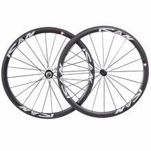 700C road carbon wielen 38mm basalt oppervlak carbon clincher wielset 23mm met UD-mat met ican logo racefiets wielen 38C