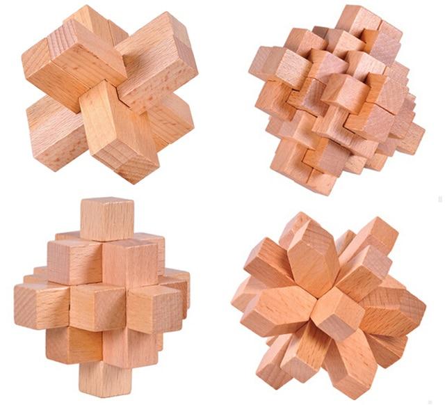 jigsaw puzzles 3D interlocking wooden IQ Testing jigsaw