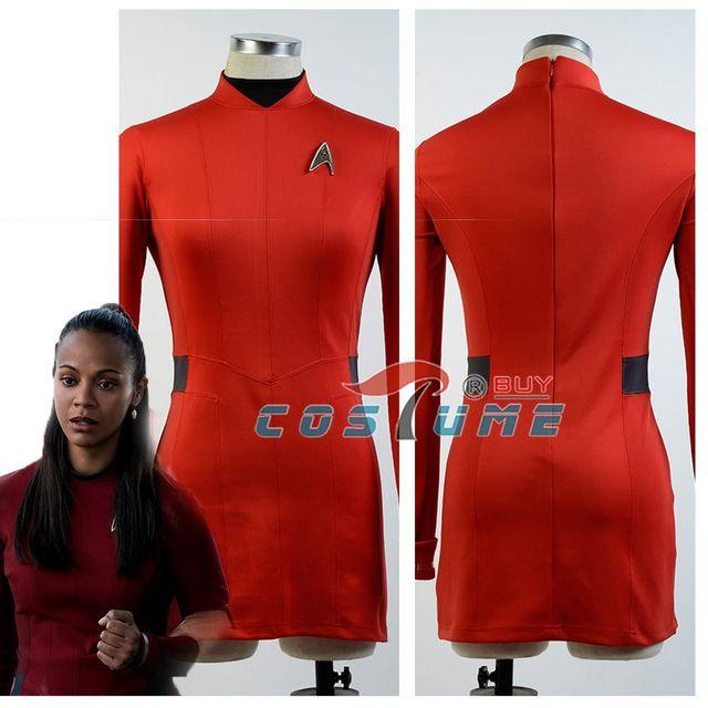 Star Trek Beyond Nyota Uhura Uniform Red Shirt Dress Cosplay Costume