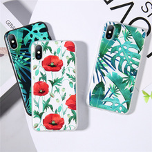 Moskado Funny Case For iPhone 8 7 Plus X XR Soft TPU Back Cover 6 6s XS Max 5 5S SE Beautiful Flower Phone