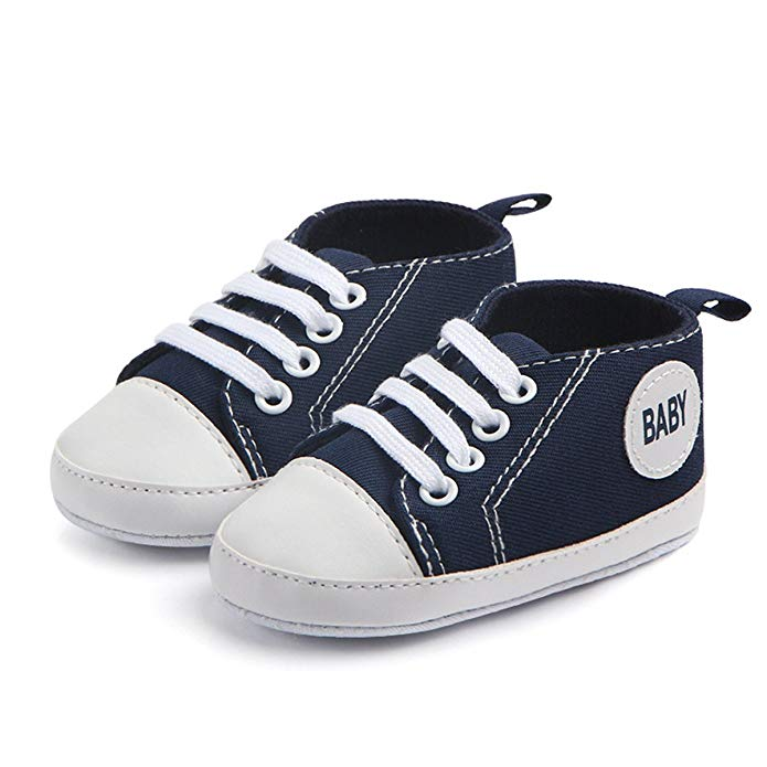 Soft Sole Canvas Boys Girls Sneakers Baby Shoes First Walkers Mr001