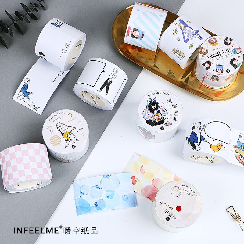 Mohamm Salt Life Series Kawaii Correction Masking Packing Washi Tape Stationery Office Supplies Scrapbooking Paper Stationary