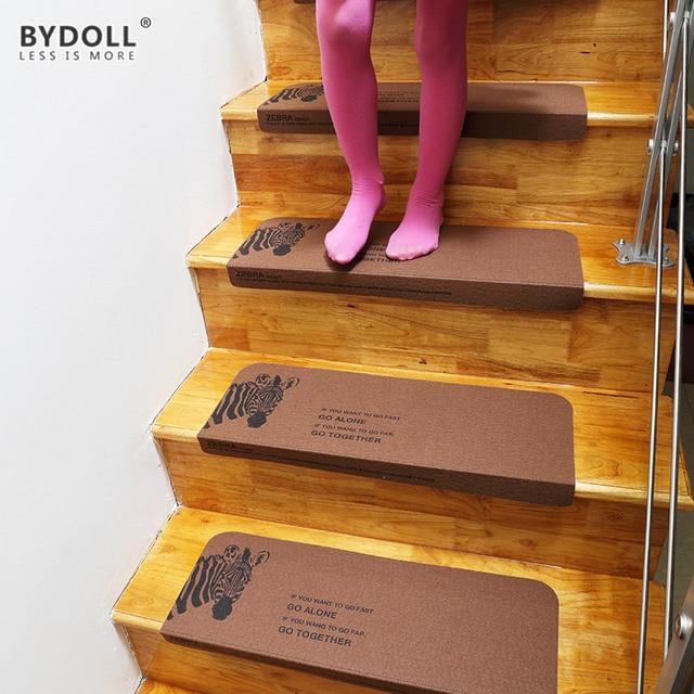 BYDOLL Stair Mat Step Pad Keep Warm Floor Mat Easy Clean Stairs Door Mat  Anti