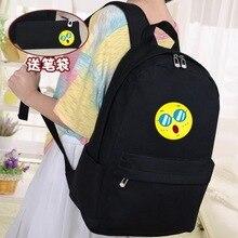 Холст японский и корейский сумка студент женский кампус студент мультфильм милый печать рюкзак