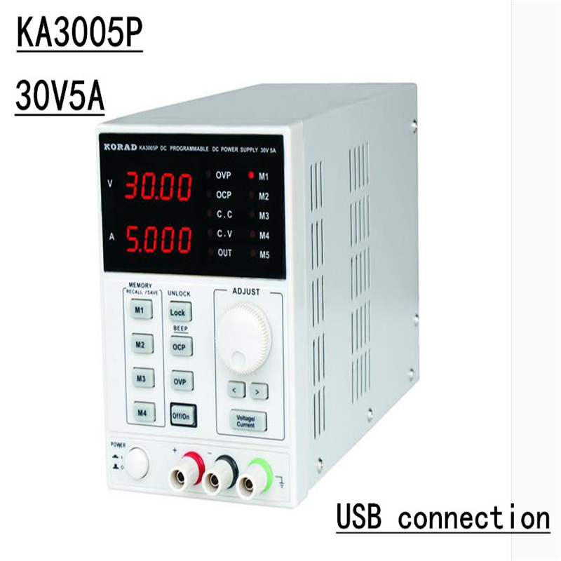 KA3005P - Programmable Precision <font><b>Adjustable</b></font> <font><b>30V</b></font>, <font><b>5A</b></font> DC Linear <font><b>Power</b></font> <font><b>Supply</b></font> Digital Regulated Lab Grade (with USB and software) image