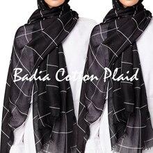 Один кусок хиджаб белый для женщин сетки хиджаб из вискозы большой мусульманский шарф шали мода макси сплошной плед палантин