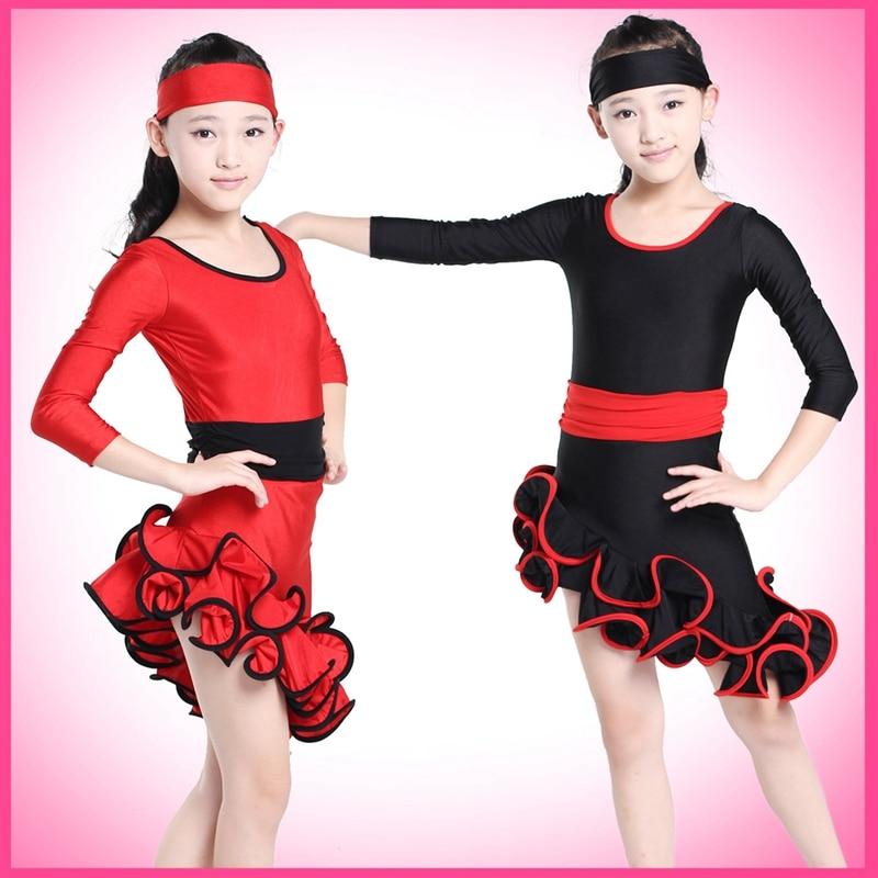 Children's Performance Costumes Dancewear Latin Gymnastics Tap Dance Dress Leotard Skate Girls Ball Gown Dresses