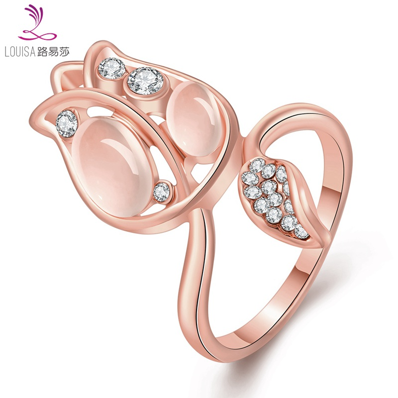 d2aa24a76 LF 10149Summer romantic style finger ring Accessories Rose Gold/14K gold  Plated flower shape for Ladies fashion ring LF 10149-in Rings from Jewelry  ...