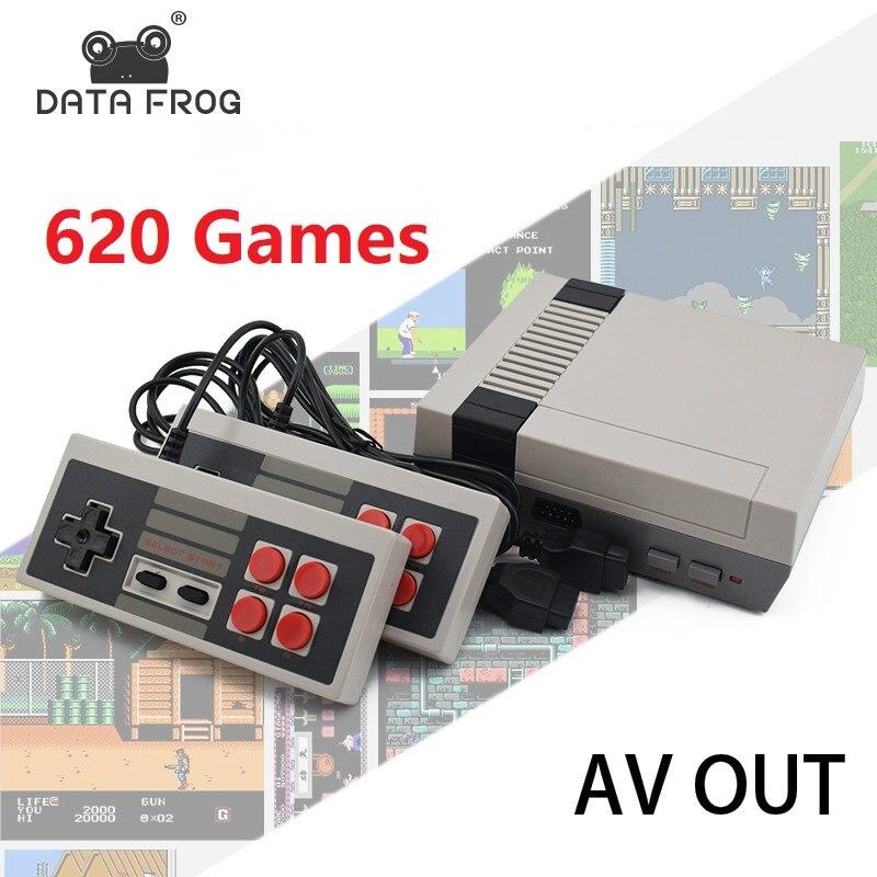 Dados 8 Forg Mini TV Game Console Embutido 620 Jogos Bit Retro Video Game Console Handheld Jogador Do Jogo Melhor Presente