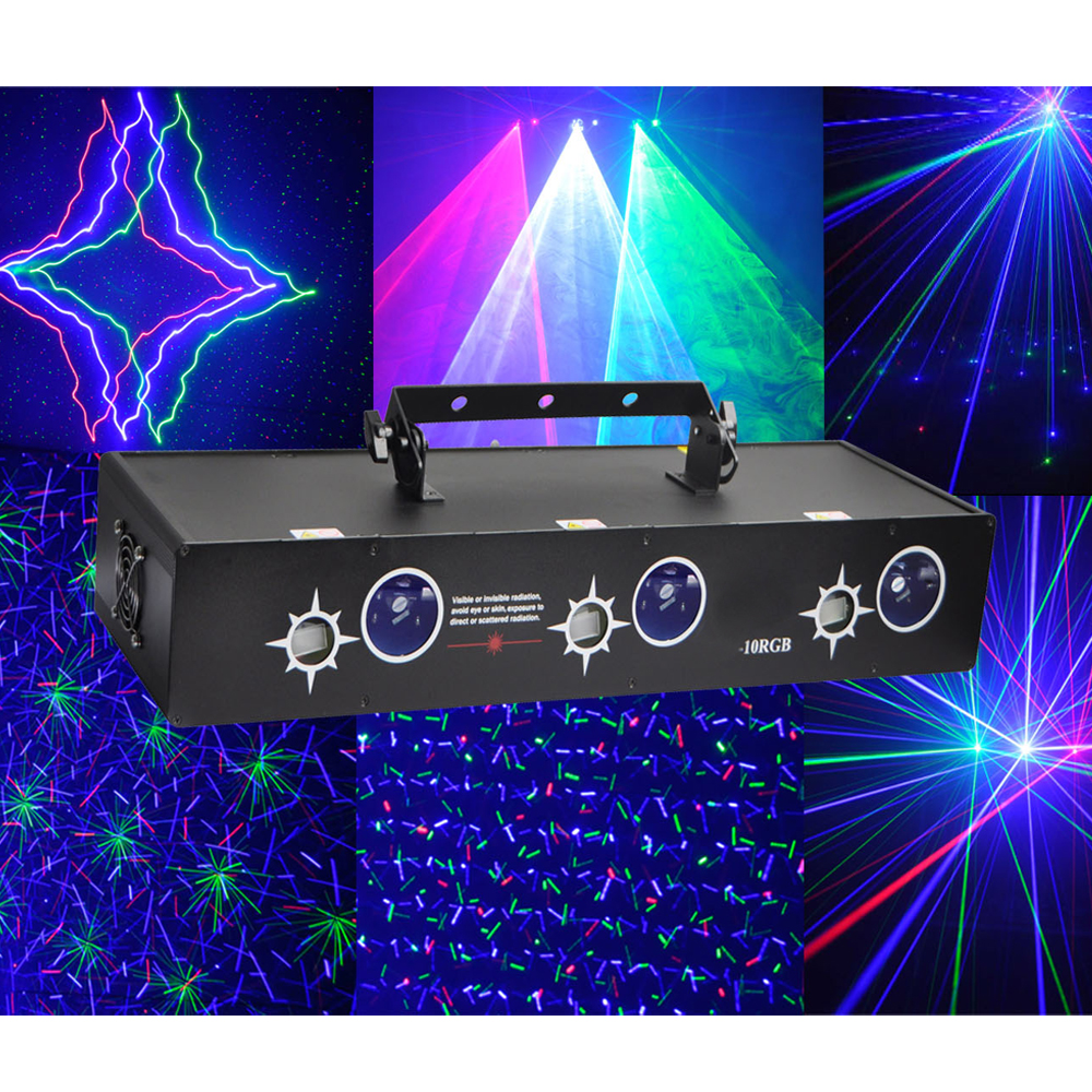 Us 309 9 6 Ports 4 In 1 Multi Effects 810mw Rgb Laser Stage Lighting System For Dj Party Night Club Dmx Scan Starfield Firefly Beam