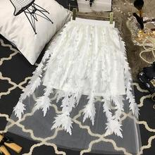 2020 Summer New Arrival Exquisite Embroidery Applique Tutu Skirt Korean Style Pe