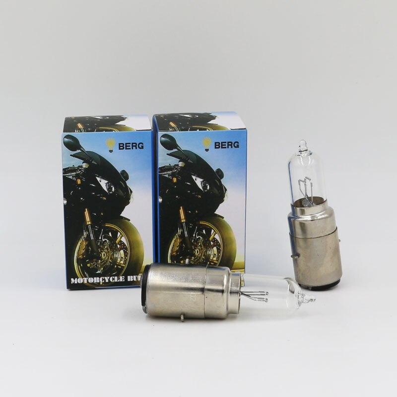 2 UNIDS ML BA20d 35/35 W Vespa Faro Halógeno Bombilla de Cristal Claro 3100 K Accesorios de La Motocicleta Bombilla de Repuesto