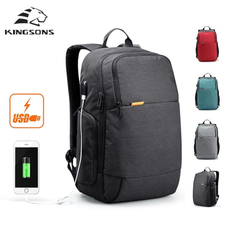 kingsons rucksack 15.6 laptop backpacks mochila leisure travel backpack anti thief usb charge backpack travel bags for men women