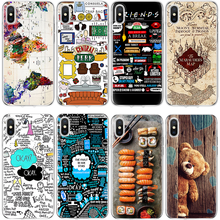 Bear Print TPU Phone Cover For iPhone 7plus Case For iPhone 4 4S 5 5S SE 5C Coque For iPhone X 6 6S S 7 8 Plus Map Book Fundas(China)