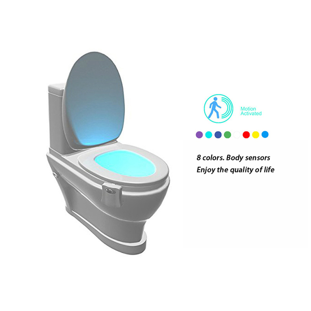 Smart Bathroom Toilet LED Motion Activated Night Light