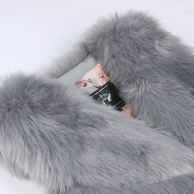 New Fashion Faux Fur Coat Winter Coat Women Waist Coat Fur Gilet Women's Fur Jacket Fur Vest For Ladies 4