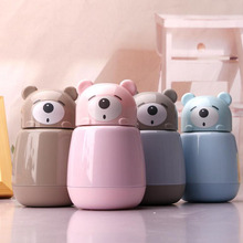 Hot Cartoon Bear Thermo Mug Stainless Steel Vacuum Flasks Thermoses Child My Water Bottle Insulated Thermos Thermocup Bottles