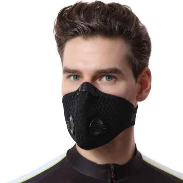 Outdoor motorcycle face dust mask Riding mask Anti Pollen Allergy PM2.5 Dust Mask with Filter Cotton Sheet and Valves