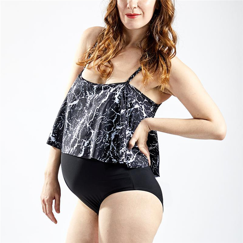 Painstaking Women Maternity Print Sling Split Swimsuit Tube Top Print Bikini Swimwear Bathing Suit Beachwear Maternity Swimsuit
