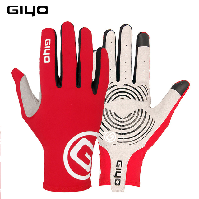 GIYO winter cycling gloves long finger gel touch screen S M L XL XXL road bike bicycle gloves men women riding full fingers MTB