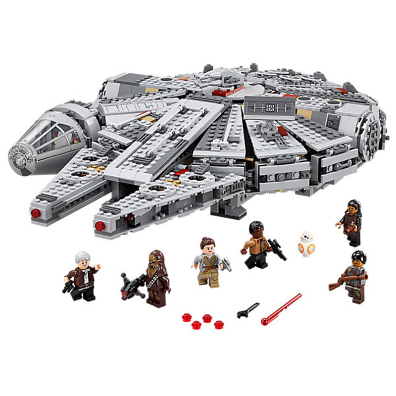 1381pcs Millennium Falcon Figure Star Wars Model Building Blocks Compatible With Legoinglys Star Wars Gift Toys