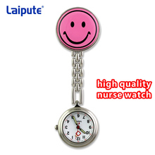 Карманные часы Улыбка лицо часы медсестры relogio де bolso Clip-on брошка брелка кулон висит часы круглые карманные часы