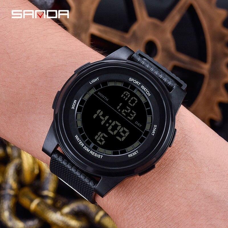 Rosegoud Heren Horloge Black & White Digital Watch Waterproof Hodinky Outdoor Explore Men Sport Relogio Masculino