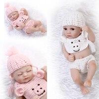 27CM mini cheap silicone reborn babies Full Body Silicone reborn baby fashion doll boneca Toys bebe gift