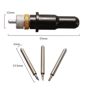 Image 5 - 15 個 30/45/60 混合度 Ttungsten 鋼の刃 + 黒用ローランドビニールカッター