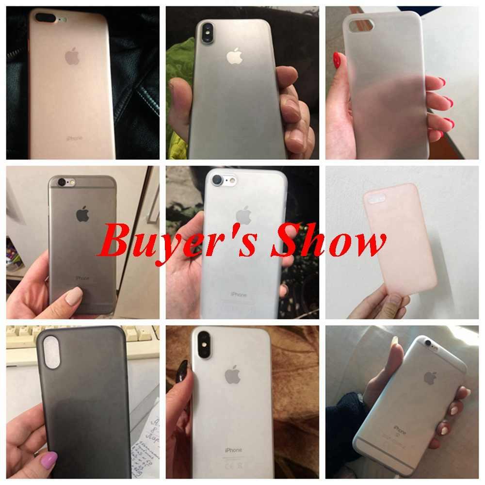 KISSCASE กรณีโทรศัพท์ Ultra บางสำหรับ iphone ของ Apple iphone 7 8 6 6s Plus Matte PC กรณีสำหรับ iPhone X ฝาครอบ Fundas สำหรับ iPhone XR XS Max 5s