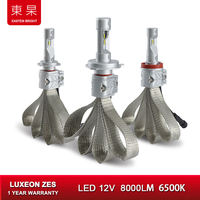 Car Lights LED 6500K 8000Lm ZES Headlight Bulbs Lamp For Auto H7 H1 H11 H4 Headlamp