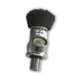 AC931 4500psi HPA In Fibra di Carbonio Cilindro Paintball Valvola del Serbatoio di Aria PCP Valvola Gas Cilindro Pcp Valvola per SCBA Attrezzature Acecare