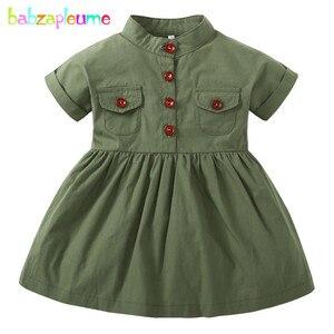 Babzapleume 0-3 años vestidos de verano para recién nacidos, ropa para niñas, ropa de manga corta, vestido de princesa infantil, disfraz para niños BC1737-1