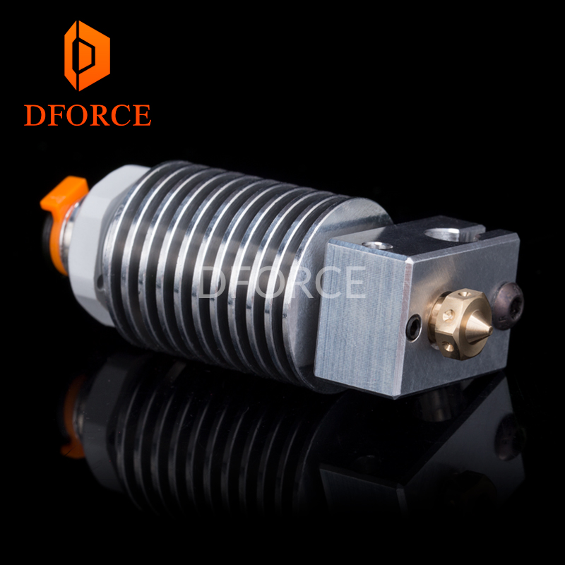 V6 Threaded HeatSink v6 hotend remote Bowen print J-head Hotend heater block heat break for E3D HOTEND for PT100 titan extruder