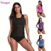 Funnygirl Dropship Women Neoprene Body Shapers Waist Trainer Modeling Strap Corset Slimming Belt Vest Adjustable Plus