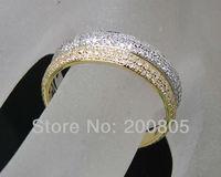Винтаж 14kt два тона золото Природный Pave Diamond Обручальное кольцо новые элегантные ювелирные изделия