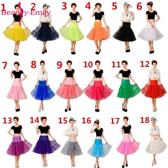 Beauty Emily A-Line Hot Sale Short Petticoat Colorful Underskirt Knee Length Bridal Tulle Petticoats For Wedding Dress Petticoat