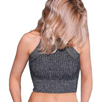 Chic Knitted Halter Bustier Crop Top Women Summer Beach Sexy White Camis Off Shoulder Elastic Tube