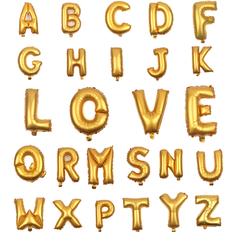 ღ ღXxpwj 1pcs-lot 16 pulgadas A-Z alfabeto aluminio globos ...
